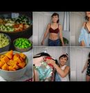 What I Eat in a Day / Healthy Vegan Meal Prep + Try On Thrift Haul