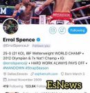 "Errol Spence Message To Keith Thurman ""IF you beat Pacquiao"""