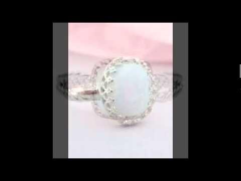 White Agate Rings