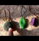 Crystal Pendants: Jade, Moldavite, Sugilite