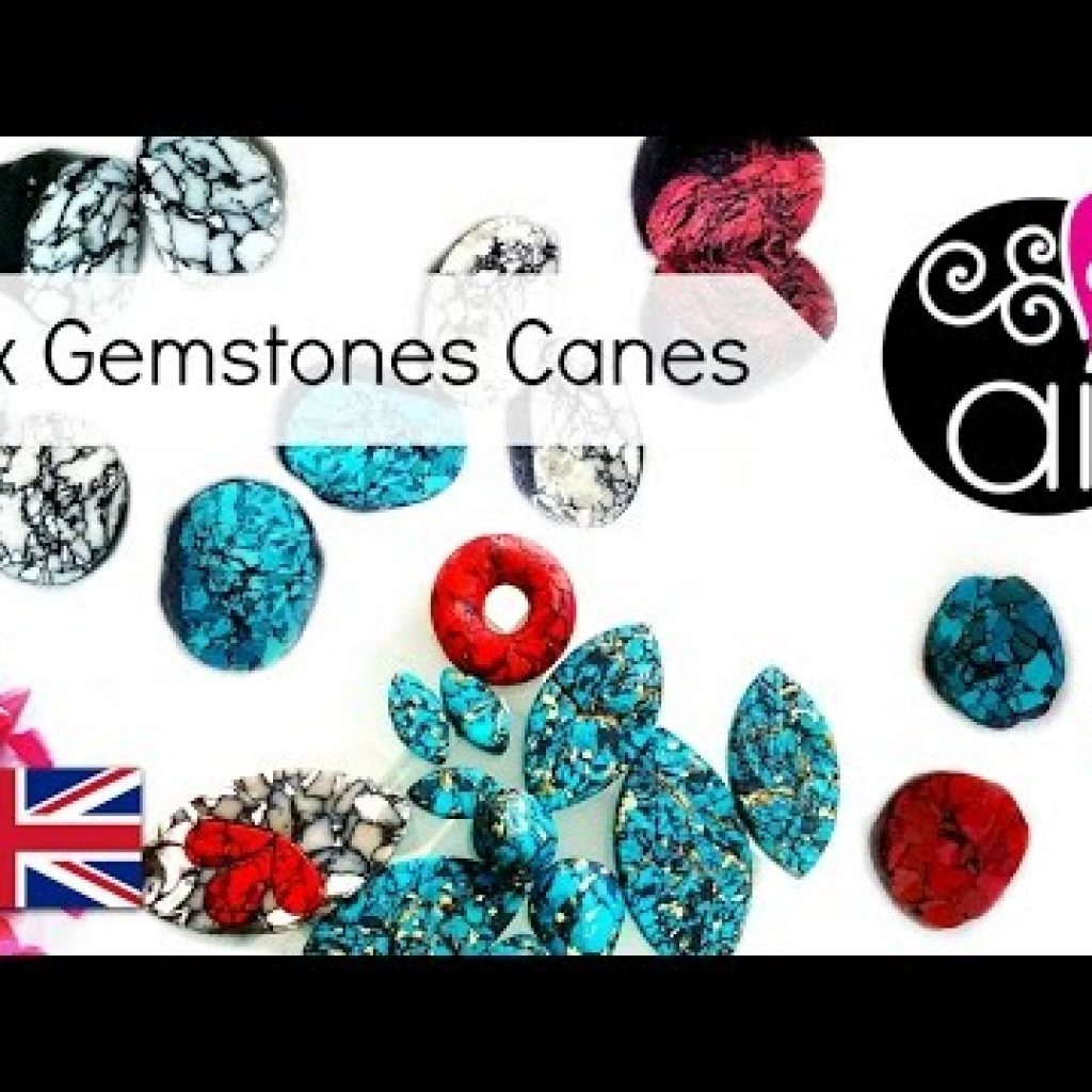 Tutorial Faux Stone Canes with Polymer Clay | Turquoise, Purple Jasper, White Marble | ENG
