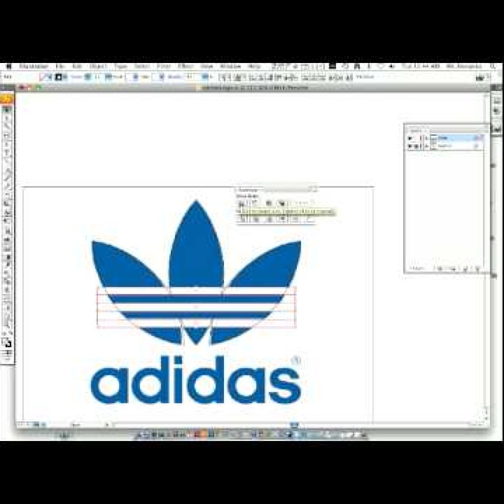 How to make an Adidas symbol with Adobe Illustrator