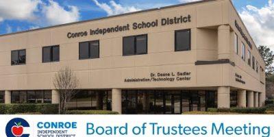 Conroe ISD – Board of Trustees Assembly – June twenty, 2017