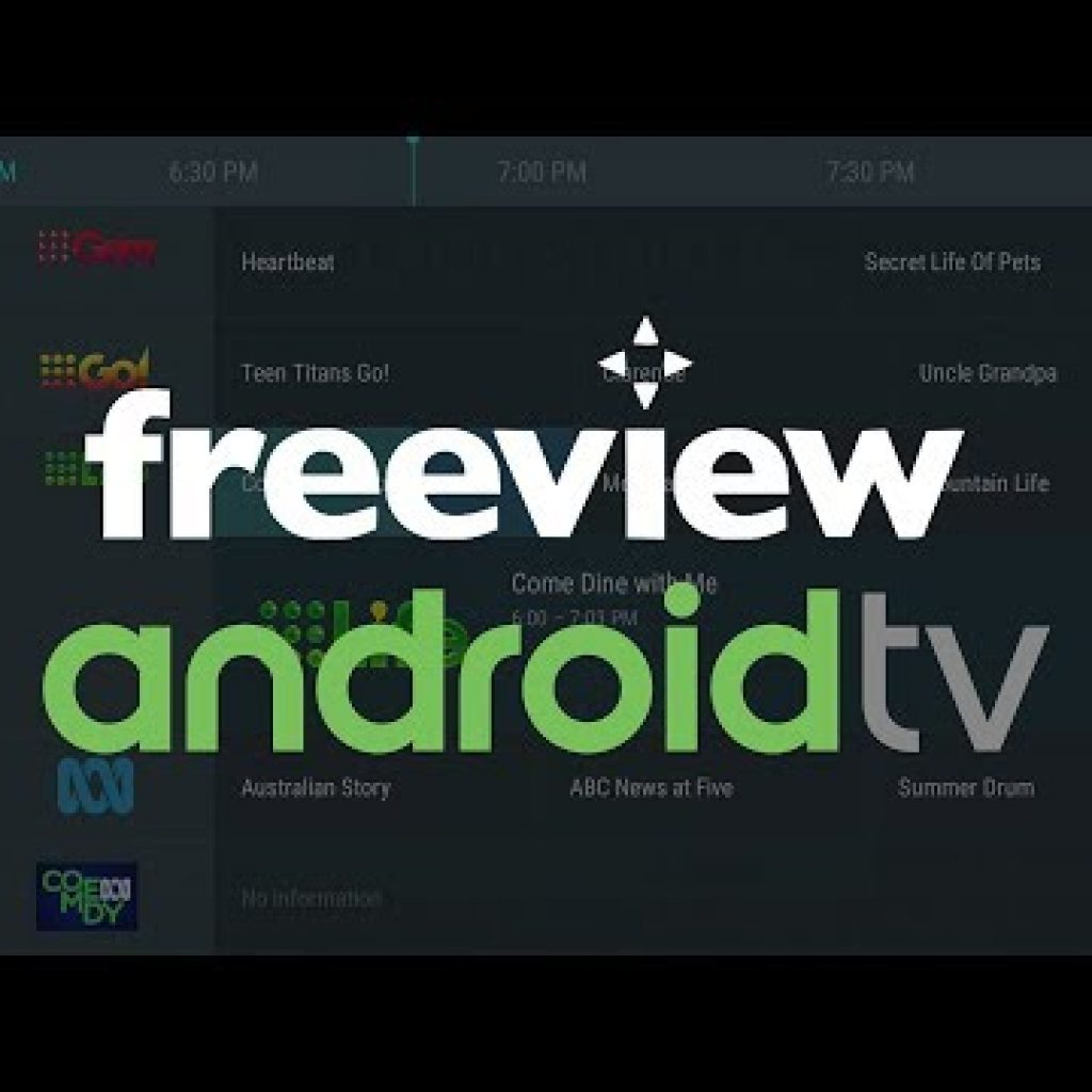 Australia Freeview IPTV Channels on Android Television set