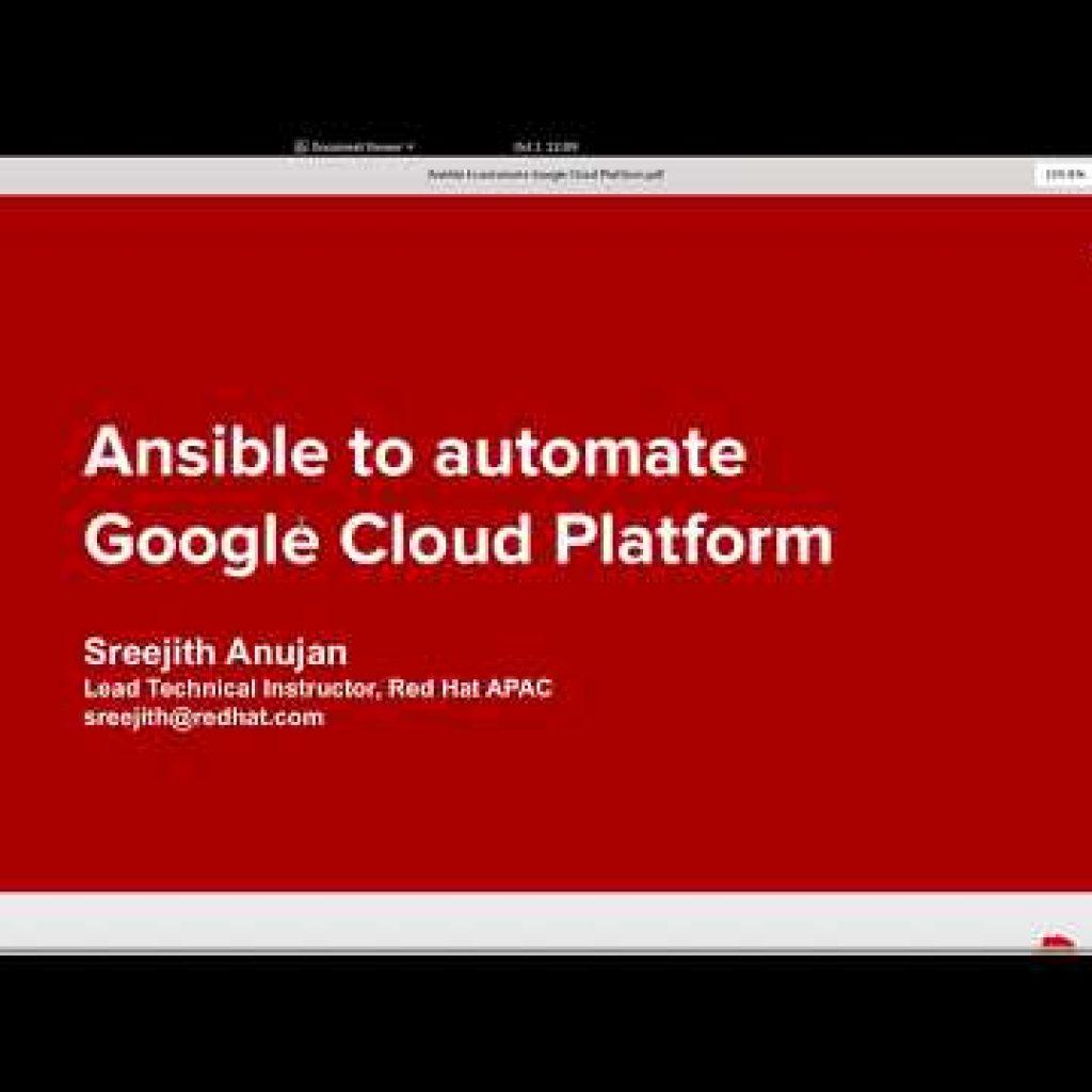 Employing Ansible to Automate Google Cloud Platform
