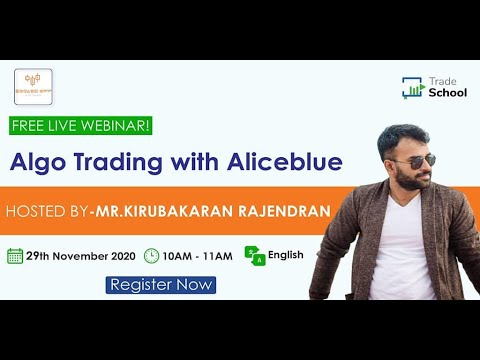 Algo Buying and selling with Aliceblue
