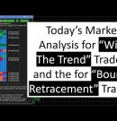 Today's Market Analysis trades for both With the Trend Traders and for Bounce, Retracement Traders