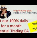 Beta Test our Make Money Day Trading Robot. Here is some guidance how